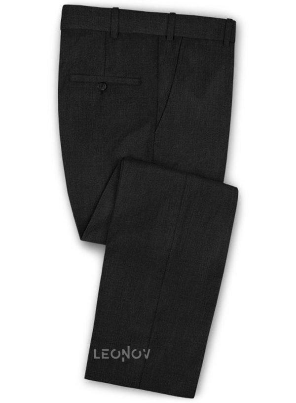 Классические черные брюки из шерсти