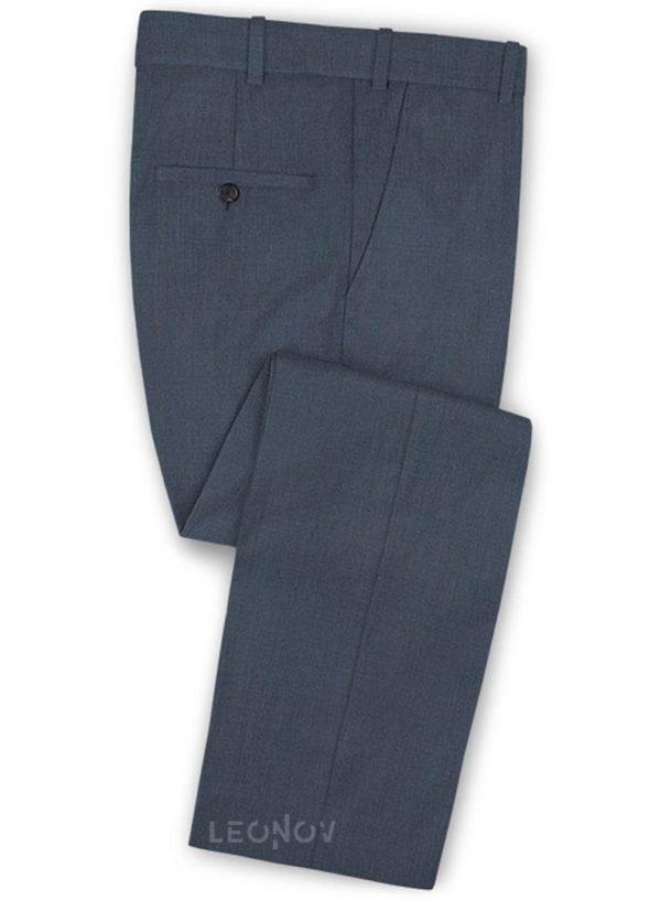 Синие твидовые брюки из шерсти