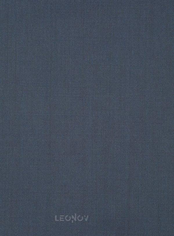 Синий твиловый костюм из шерсти