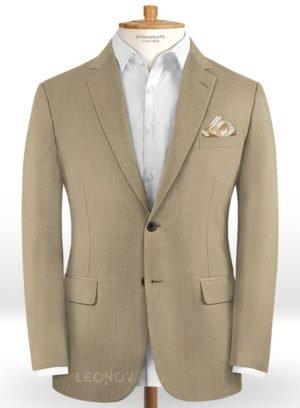 Пиджак цвета светлый хаки из шерсти – Scabal