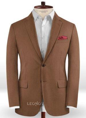 Пиджак кирпичного цвета из шерсти