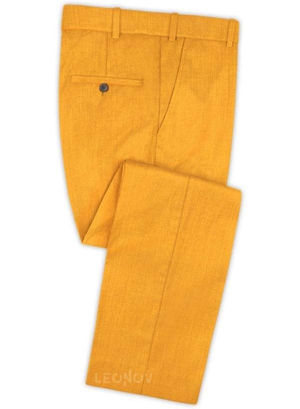 Ярко оранжевые брюки из шерсти
