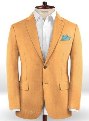Светло-оранжевый пиджак из шерсти