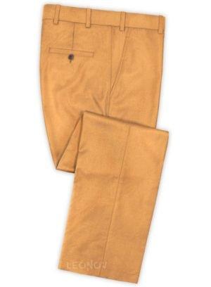 Светло-оранжевые брюки из шерсти