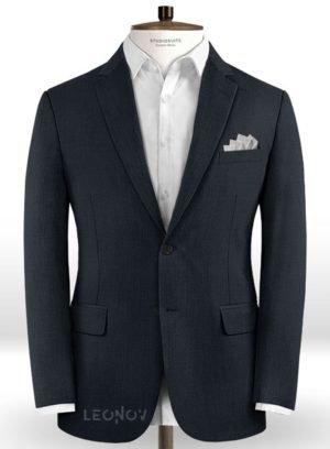 Пиджак президентский синий из шерсти