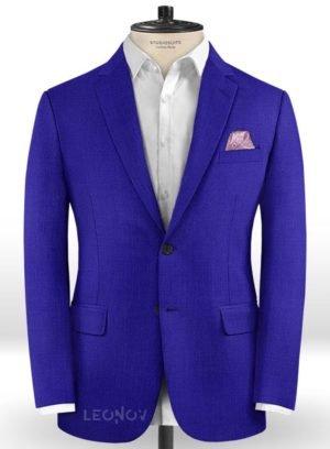 Ярко-синий мужской пиджак из шерсти – Scabal