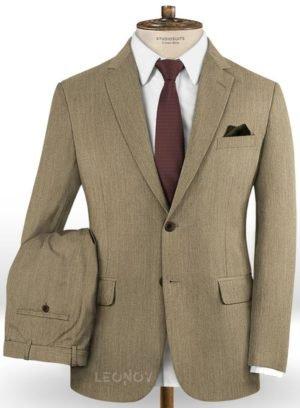 Светло-коричневый классический костюм из шерсти