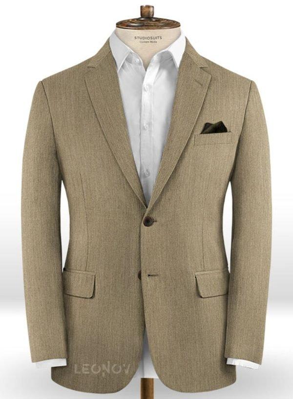 Светло-коричневый классический пиджак из шерсти