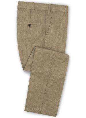 Светло-коричневые классические брюки из шерсти