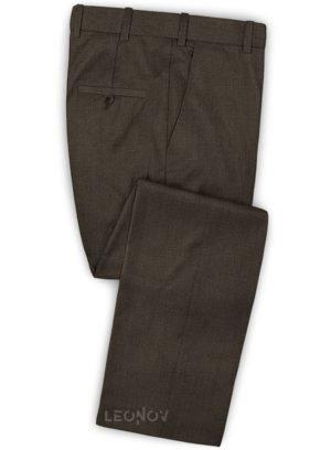Темно-коричневые брюки из шерсти
