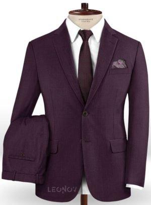 Темно-фиолетовый костюм из шерсти