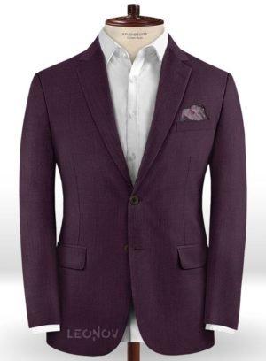 Темно-фиолетовый пиджак из шерсти – Scabal