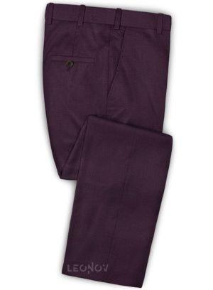 Темно-фиолетовые брюки из шерсти – Scabal