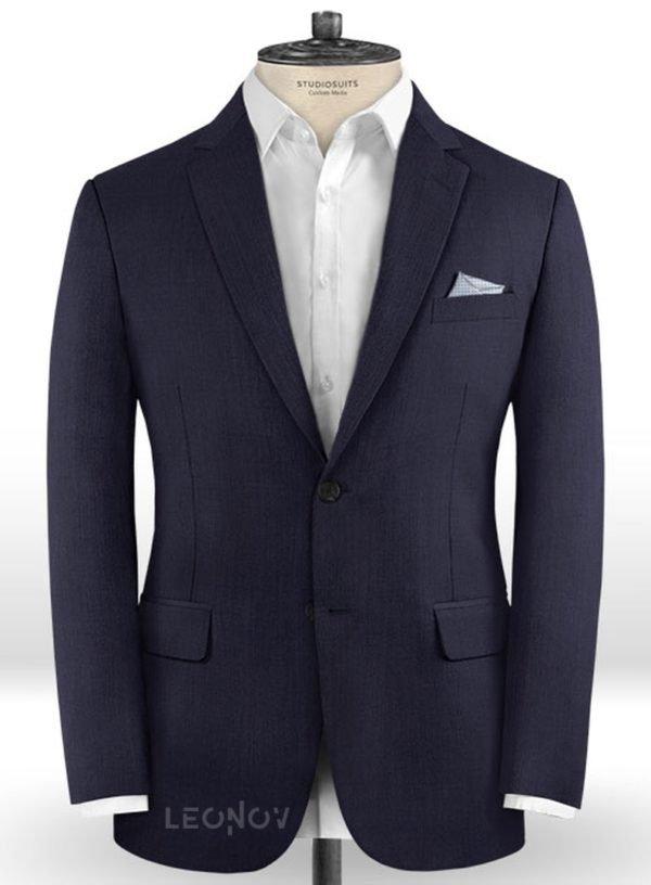 Темно-синий пиджак из шерсти