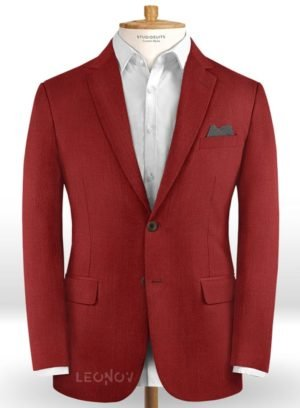 Красный пиджак из шерсти