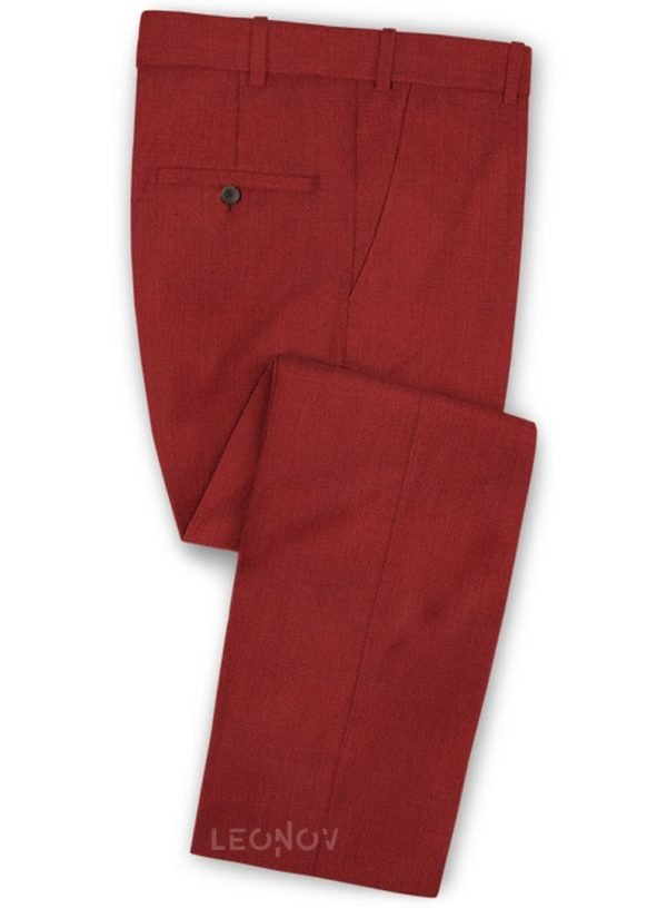 Красные брюки из шерсти