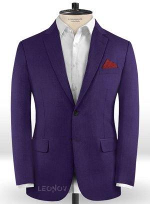 Пиджак баклажановый из шерсти