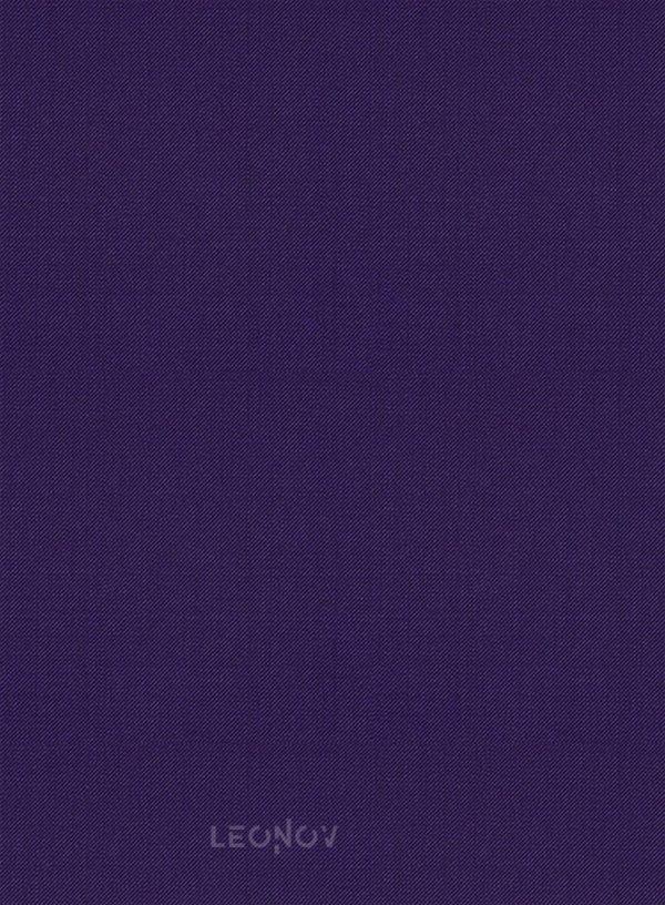 Костюм из шерсти баклажановый
