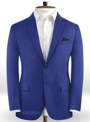 Ярко синий пиджак из шерсти