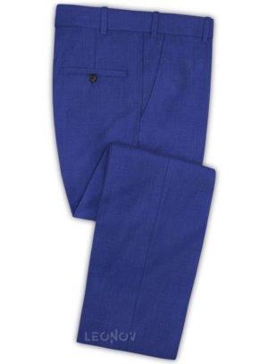Ярко синие брюки из шерсти