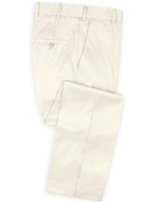 Белые свадебные брюки из шерсти – Scabal