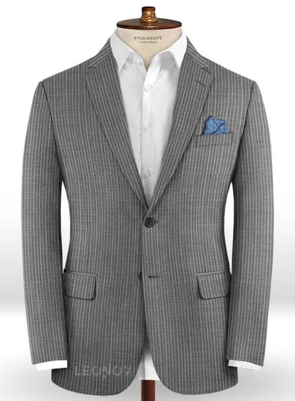 Пиджак из шерсти серый – Scabal
