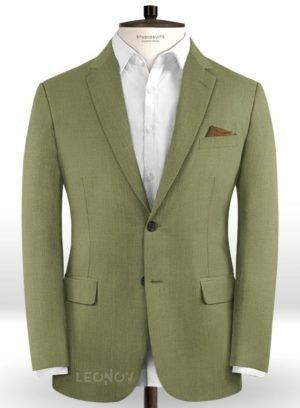 Светло-зеленый пиджак из шерсти