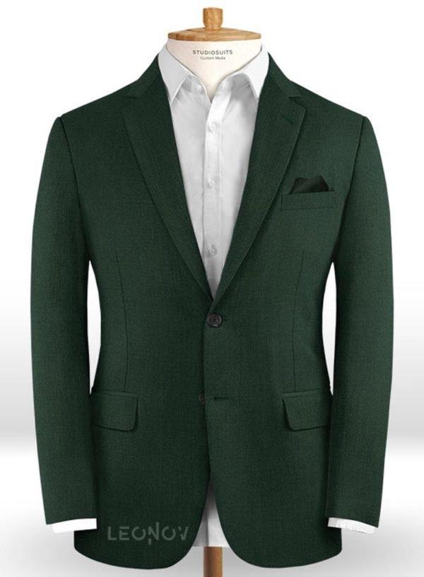 Пиджак из шерсти лесная зелень