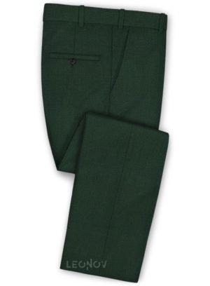 Брюки из шерсти лесная зелень