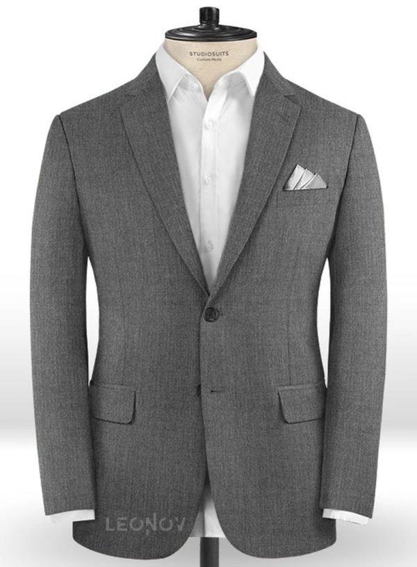 Графитовый серый пиджак из шерсти