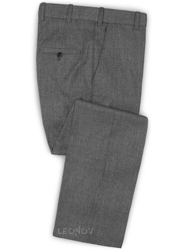 Графитовые серые брюки из шерсти