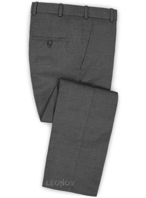 Серые твидовые брюки из чистой шерсти