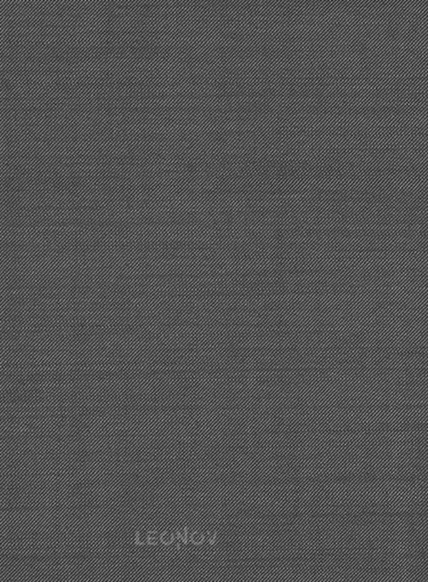 Серый твиловый костюм из чистой шерсти