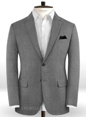 Серый пиджак из шерсти