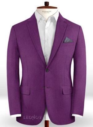 Пиджак из шерсти насыщенный фиолетовый
