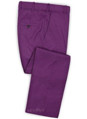 Брюки из шерсти насыщенный фиолетовый