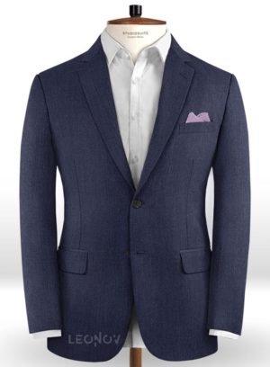 Пиджак цвета индиго из шерсти