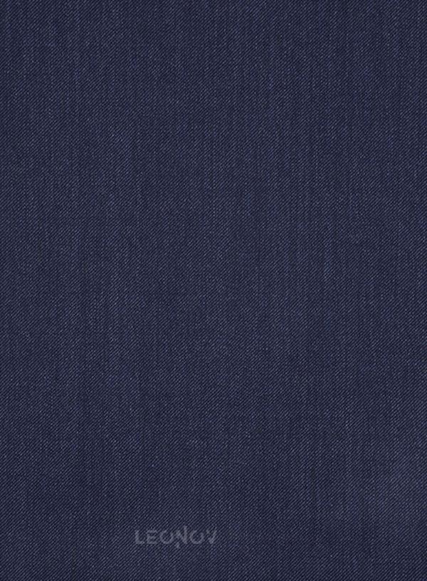 Костюм цвета индиго из шерсти