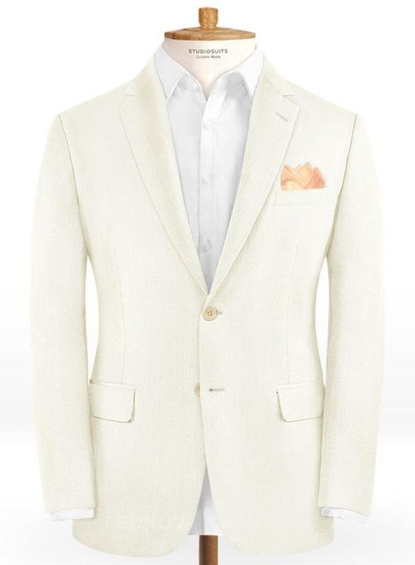 Пиджак цвета слоновой кости из шерсти – Scabal