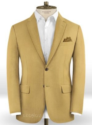 Пиджак из шерсти цвета хаки