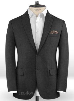 Свинцово-серый пиджак из шерсти