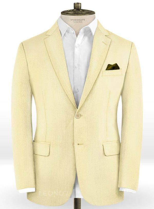 Пиджак сочного желтого цвета из шерсти – Scabal