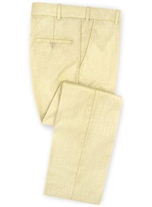 Брюки сочного желтого цвета из шерсти – Scabal