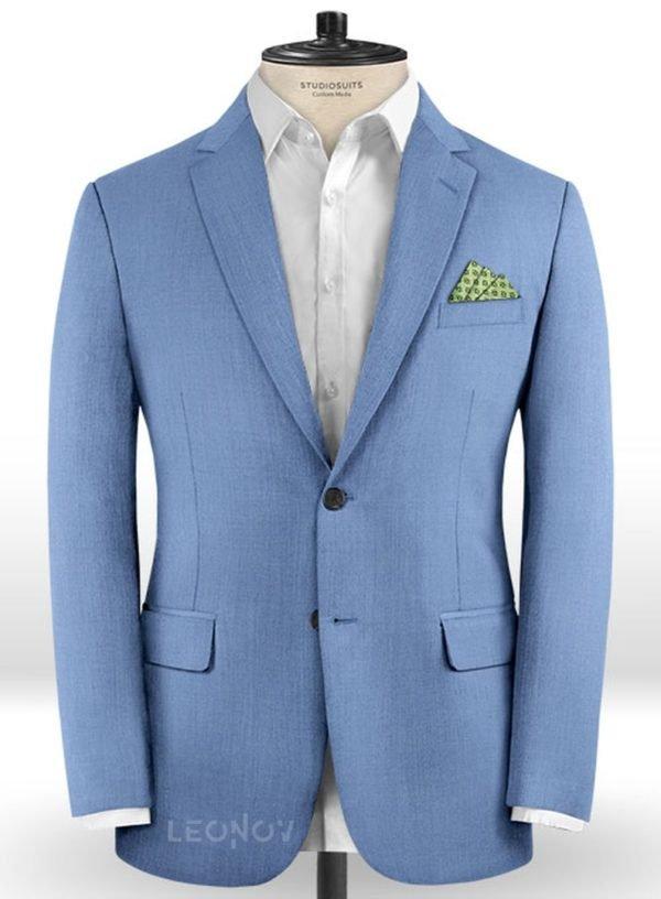 Голубой пиджак из шерсти – Scabal