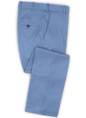 Голубые брюки из шерсти – Scabal