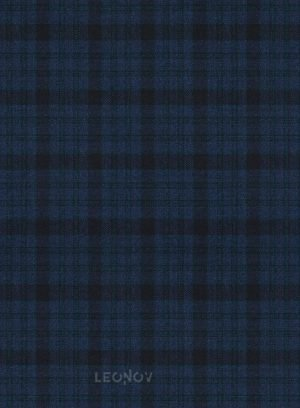 Темно-синий костюм в клетку из шерсти синий