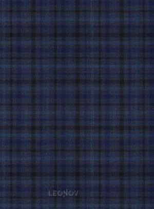 Костюм темно-синего цвета в мелкую клетку из шерсти