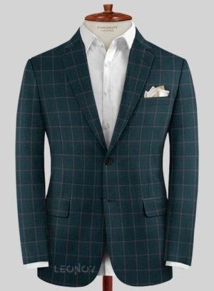 Пиджак зеленый из шерсти – Scabal