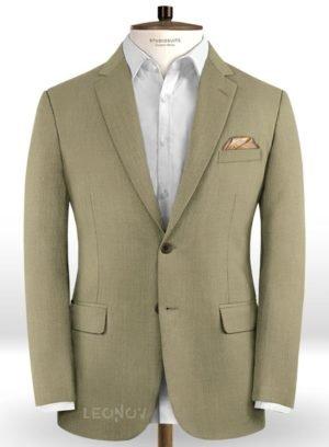 Пиджак цвета зеленый мох из шерсти – Scabal
