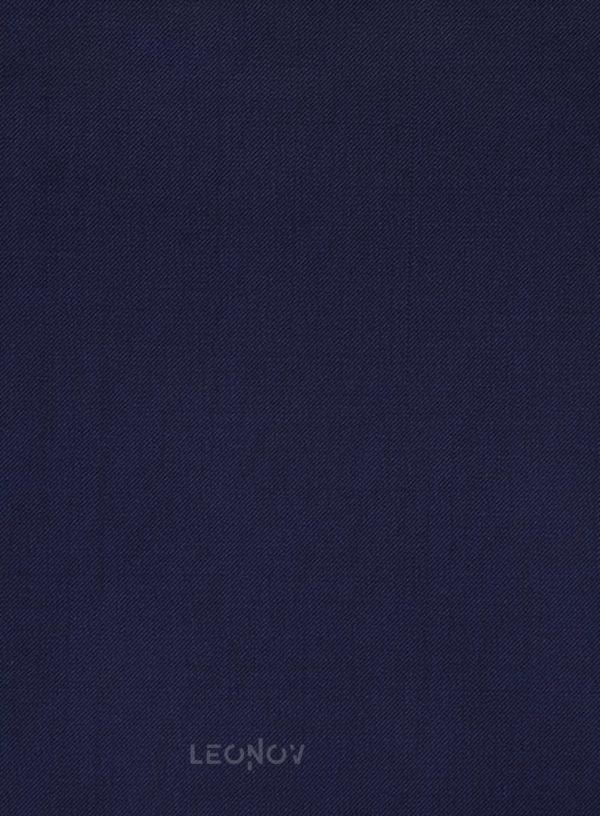 Офисный темно-синий костюм из шерсти